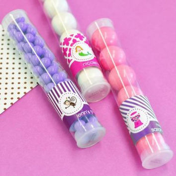 Personalized Mob Kid's Birthday Candy Tubes - for 24 (2 dozen)