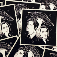 X-Files Mulder and Scully Sticker