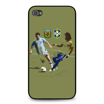Messi and Neymar Art iPhone 4 | 4S Case