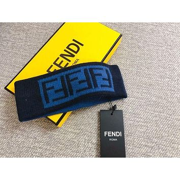 FENDI WOMEN MEN FF Wool Knit Headband