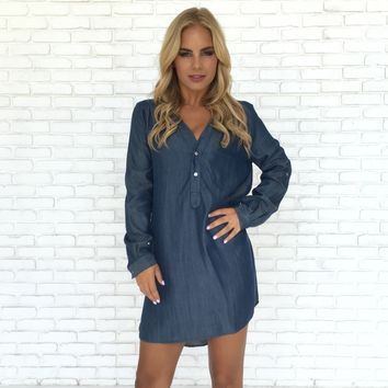 Denim Days Shift Dress