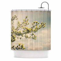 "Angie Turner ""Yellow Magnolias"" Blue Photography Shower Curtain"