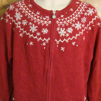 Nordic Snowflakes Cheesy Christmas Sweater