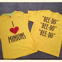 I (Heart) Minions Despicable Me Youth 50/50 Cotton/Poly T-Shirt