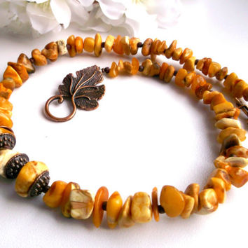 Baltic amber chunky necklace amber chip necklace raw amber necklace amber bib necklace amber wood necklace amber choker gift for her