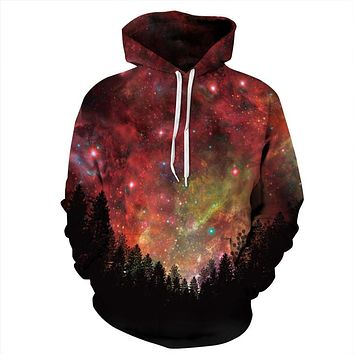 Starry Forest Trippy Hoodie