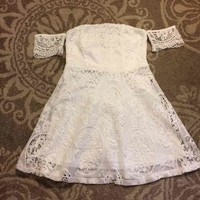 Forever 21 White Crotchet Dress($ 15) - Mercari: Anyone can buy & sell