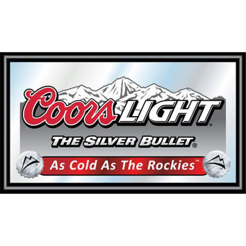 Coors Light Wood Framed Mirror BIG 15 x 26 inches
