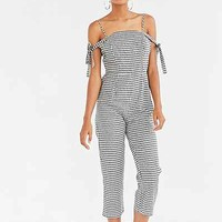 Glamorous Gingham Tie-Strap Jumpsuit - Urban Outfitters