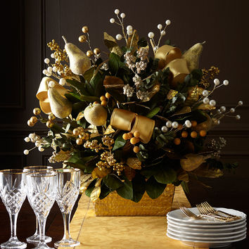 Golden Christmas Centerpiece - Neiman Marcus