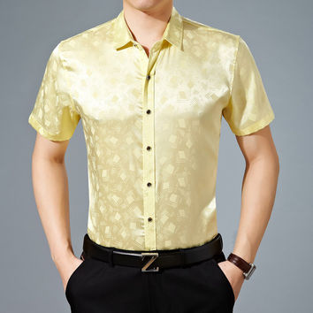 Summer Men Short Sleeve Shirt [6544198851]