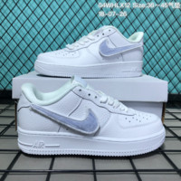 HCXX N176 Nike Air Force 1 Low Leather Velcro Fashion Causal Skate Shoes White