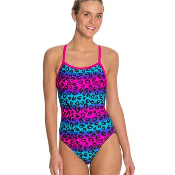 Waterpro Jungle Thin Strap One Piece Swimsuit at SwimOutlet.com