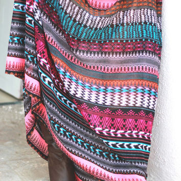 Aztec Maxi Summer Skirt, Azec Printed Skirt, Tribal Skirt, Spring Fashion Long Skirt