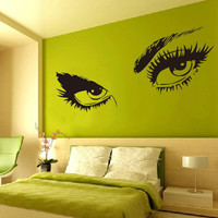 Audrey Hepburn's Sexy Eyes 3d Wall Sticker Art Decals 8024 Home Decor Removable Black S/M/L