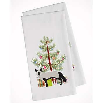 Silver Fox Christmas White Kitchen Towel Set of 2 BB9238WTKT
