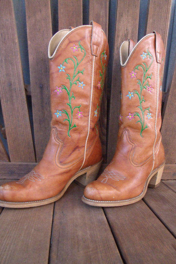 Perfect Hand Painted Red Hot Zebra Cowboy Boots Women39s 6m
