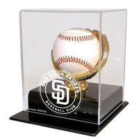 San Diego Padres MLB Single Baseball Gold Glove Display