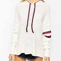 Free People Love All Hoodie In Ivory Combo at asos.com