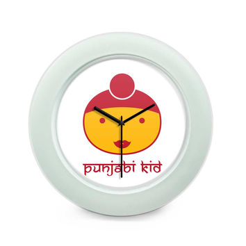 Punjabi Kid Table Clock