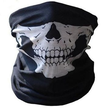 Motorcycle SKULL Ghost Face Windproof Mask Beanie Hat Outdoor Sports Warm Ski Mask Caps Bicycle Bike Balaclavas Bonnet Scarf Man