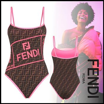 FENDI SWIMSUIT Fendi Roma Amor Lycra swimsuit