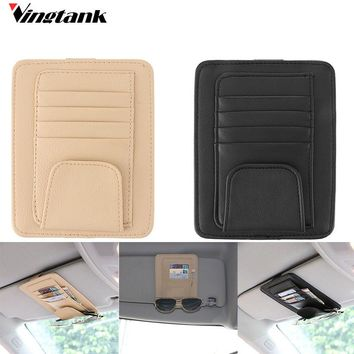 Multifunction Car Auto Visor Organizer Holder Case for Cards Glasses Bills Car Hanging Bag Auto Tidying Accessories Pocket PU