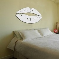 Toprate(TM) Silver Sexy Lips Modern Stylish Fashion Art Design Removable DIY Acrylic 3D Mirror Wall Decal Wall Sticker for Bedroom TV Background Wall Home Decoration:Amazon:Home & Kitchen