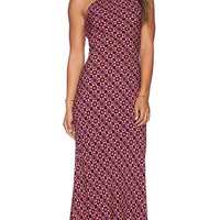 FLYNN SKYE Anastasia Maxi Dress in Plum