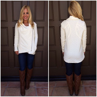 On The Cusp Asymmetrical Jacket - IVORY