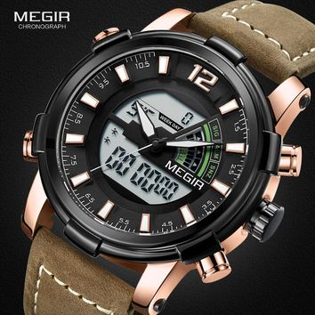 Mens Chronograph Watch with Multiple Time Zones