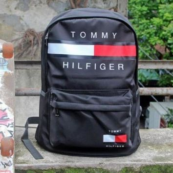 DCCKUNT Tommy Hilfiger Casual Sport Laptop Bagr Large Capacity School Bag Backpack