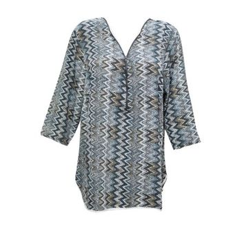 Mogul Womens Tunic Blouse Zig-Zag Print Long Sleeve Bohemian Fashion Summer Comfy Shirt Top - Walmart.com