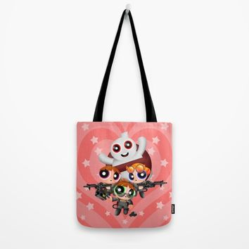 Cute Power Ghost Buster Puff Girl Squad Tote Bag by Greenlight8