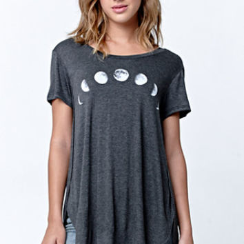 LA Hearts Moon Side Slit Longline T-Shirt at PacSun.com