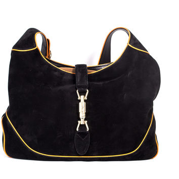 "Black Suede ""Hobo"" Bag"