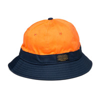 10 Deep: High Low Fisherman Hat - Orange / Navy