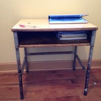 Vintage small school desk