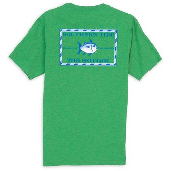 Original Skipjack Tee in Heathered Green by Southern Tide