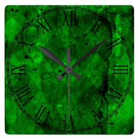 Retro Grunge Vintage Texture Pattern Square Wall Clocks