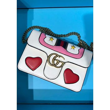 GUCCI Women's High-Quality Fashionable Shoulder Bag F-AGG-CZDL White