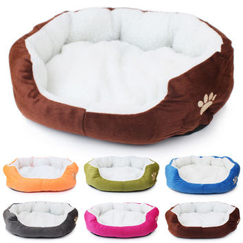 Soft Dog Nest Bed Fleece Warm 4 Colors