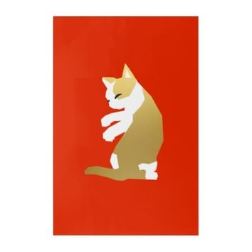 Fortune Cat (Chinese New Year) Acrylic Wall Art