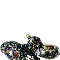 WRAPPED UP GOLD PEACOCK HINGE BANGLE MULTI