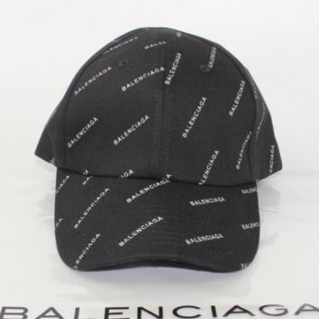 Balenciaga Fashion Casual Print Outdoor Cotton Baseball Cap Hat Black