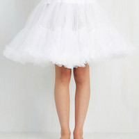 50s Short Length Va Va Voluminous Petticoat in White - Short