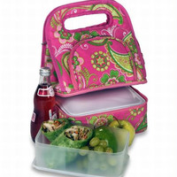 2 Lunch Bags - Pink Desire Print