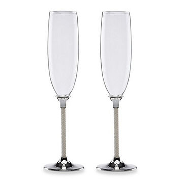 Jubilee Pearl 2-piece Toasting Flute Set by Lenox
