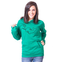Narwhal American Apparel Pullover Hoodie