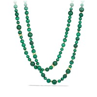 DY Collection Bead Necklace with Malachite and Gold